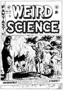 Weird Science Vol 1 14 Original Cover Art