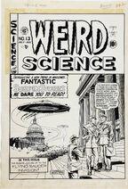 Weird Science Vol 1 13 (2) Original Cover Art