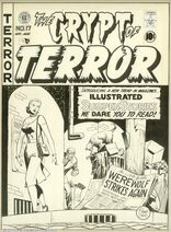 Crypt of Terror Vol 1 17 Original Artwork for Cover