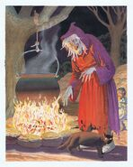 Johnny Craig EC Comics Fine Art painting - Old Witch