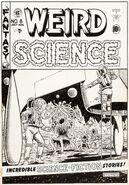 Weird Science Vol 1 8 Original Cover Artwork
