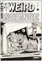 Weird Science Vol 1 8 Original Cover Artwork