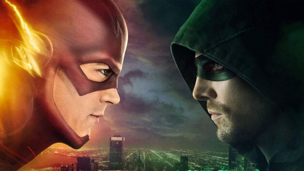Arrow And The Flash Face Off