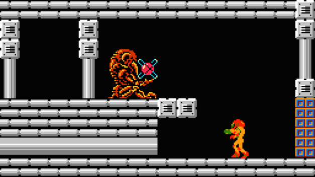 Metroid and Varia power-up