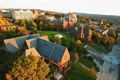 Cornell fall sunset