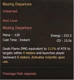 Blazing Departure