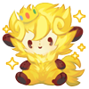 Golden king wooly plush
