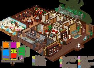Tiramisu teahouse inner layout