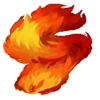 Fiery fluffy scarf
