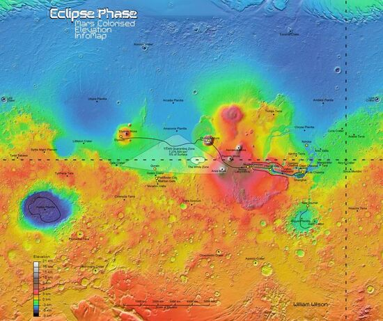 Mars Elevation Map