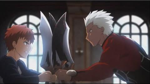 Fate Stay Night Unlimited Blade Works - Emiya Shirou vs Archer HQ 720p