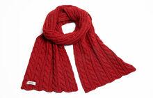 Prod-Echarpe rouge motifs tresses 23975 vue 3 HD