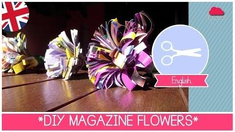 Summer Home Decor DIY MAGAZINE FLOWERS - How to recycle magazines