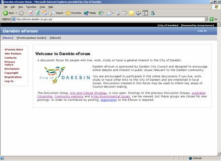 Darebin homepage