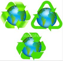 Earth recycle logo