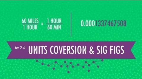 Unit Conversion & Significant Figures Crash Course Chemistry 2
