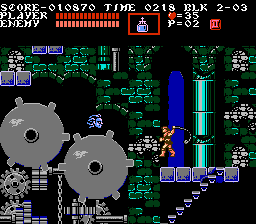 A screenshot of Castlevania III.