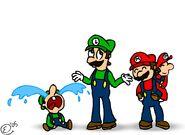 Mario fanart from 2005