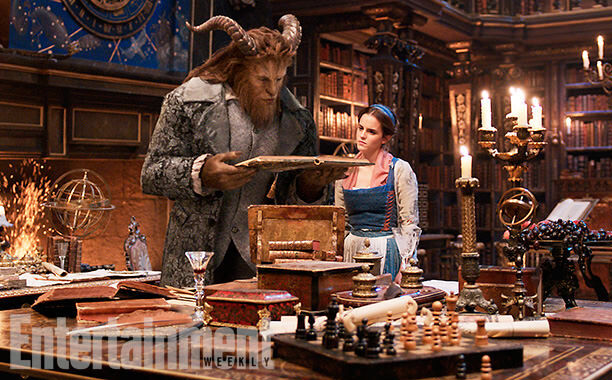 beauty and the beast belle beast library ew