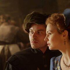 Lucy und Paul beobachten, wie der Graf Lancelot de Villiers ermordet