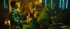 Grüne Party Smaragdgrün