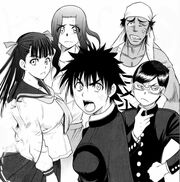 Akira's group confronting Karino's