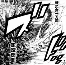 Ataque de Una Espada de la Dama Guerrera - Mordisco de Serpiente