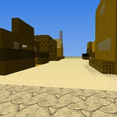 The first village of the Laibai desert. Far west style.