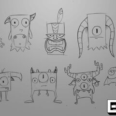 Sketches of the creatures
