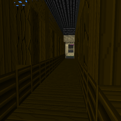 inside of the Covered Bridge.