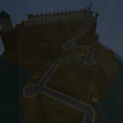 The Hogwarts boathouse path.