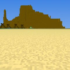Laibai desert and a small native village & desert lake.