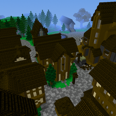 Midieval village from other side facing Farmlands