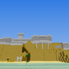 It's a house I've made in the desert in front and an inner sea. (Like the great salt lake but different)