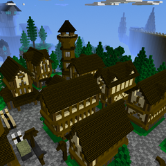 Midieval Village facing THE OCTOGON