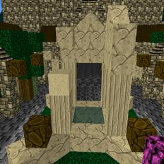 fountain in the Clocktower courtyard.