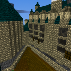 Backside of the castle.