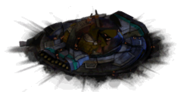Damaged shield generator