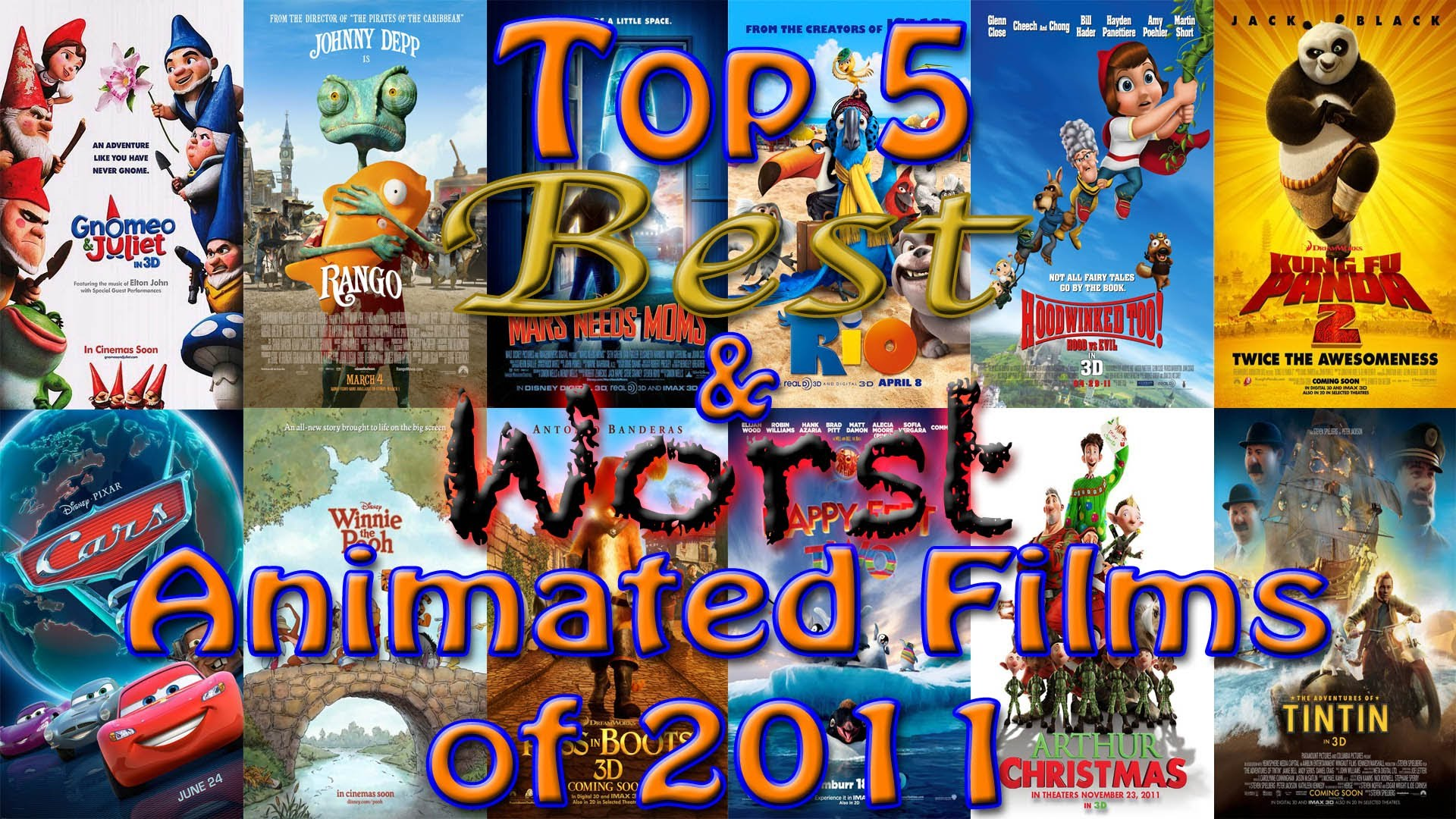 Top 5 Best & Worst Animated Films of 2011 | Electric Dragon ...