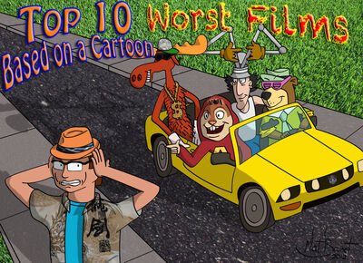 Top 10 Worst Films Based on A Cartoon logo