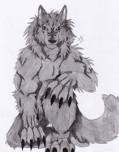 Dark werewolf by firewolf anime-d31nsi1