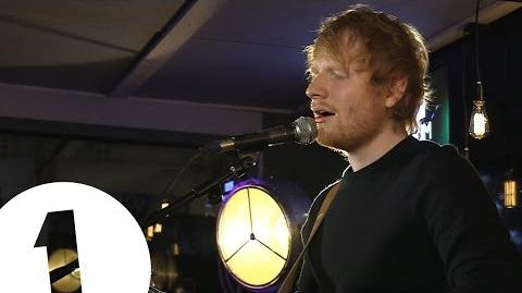 Ed Sheeran - Thinking Out Loud - Backstage at the BBC Music Awards