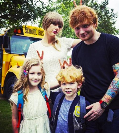 Image taylor swift ed sheeran and lookalikes from - Ed sheeran give me love live room ...