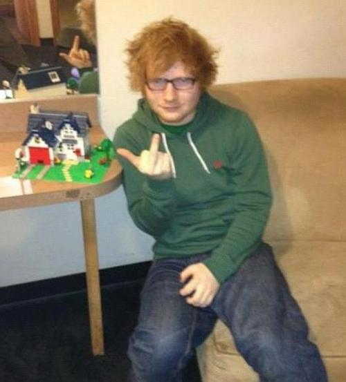 Ed Sheeran Builds A Lego House