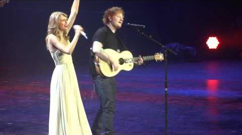 "Taylor Swift & Ed Sheeran ""I See Fire"" - Berlin, O2 World"
