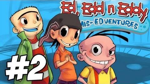 Ed, Edd n Eddy The Mis-Edventures Walkthrough Pin the Tail on the Ed Part 2 (Xbox PS2 Gamecube)