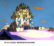 Construction Site With Sphinx