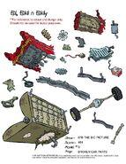 Broken Car Parts