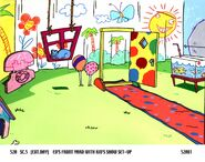 Ed's Front Yard With Kid's Show Set-Up