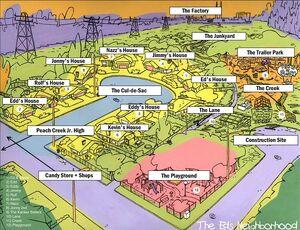 A Big Map Of Peach Creek